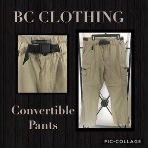 B C CLOTHING MENS CONVERTIBLE PANTS